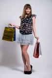 Studioportrait einer schönen jungen Frau Lizenzfreies Stockfoto