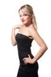Studioportrait eines jungen Mädchens im schwarzen Kleid Lizenzfreie Stockfotografie
