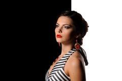 Studioportret van mooi sexy meisje royalty-vrije stock foto's