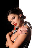Studioportret van mooi sexy meisje stock fotografie