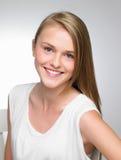 Studioportret van Mooie Tiener Stock Foto's
