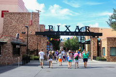 Studios de Pixar aux studios de Hollywood de Disney Images libres de droits