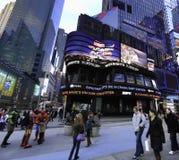 Studios de Times Square (SOLIDES SOLUBLES TOTAUX) Photo libre de droits