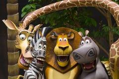 STUDIOS UNIVERSELS SINGAPOUR - 2 FÉVRIER 2017 : Le Madagascar aux studios universels Singapour Images stock