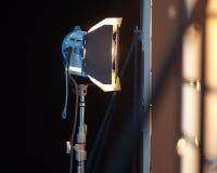 Studioschijnwerper of Stadiumlicht Stock Foto's