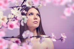 Studioshoot di bellezza di Srping fotografia stock