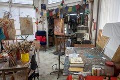 Studiosikter runt om Curacao den karibiska ön Arkivbild