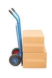 Studioskottet av en handlastbil med lådan boxas Fotografering för Bildbyråer