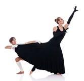 Studiotrieb von zwei netten Frau Gymnasts Lizenzfreie Stockfotografie