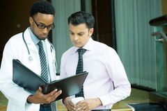 Studious healthcare professionals stock image