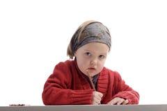 Studious little girl Stock Photo
