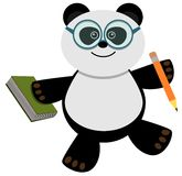 Studious panda Stock Photos