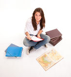 Studious teenage girl Stock Image