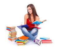 Studious woman Stock Image