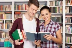 Studiować wpólnie jest zabawą. Zdjęcie Stock