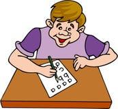 studiowanie chłopca ilustracja wektor