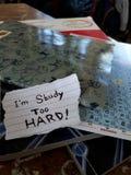 Studiuję zbyt mocno Fotografia Stock