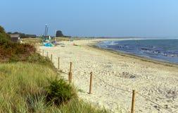 Studland小山海滩多西特英国英国 库存照片