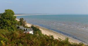 Studland海岸和海湾多西特在Swanage和Poole附近的英国英国 库存照片
