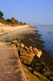 Studland海滩多西特英国英国位于在Swanage之间和Poole和伯恩茅斯 图库摄影