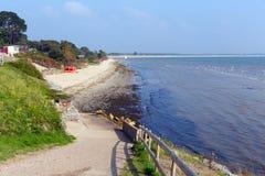 Studland middendiestrand Dorset Engeland het UK tussen Swanage en Poole en Bournemouth één van drie stranden op dit mooie c wordt stock afbeelding