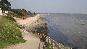 Studland Middle beach Dorset England UK near Sandbanks stock video