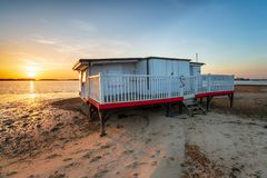 Studland vicino a Poole in Dorset immagine stock