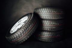Studless winter tires stock photos