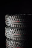 Studless winter tires stack Stock Photos