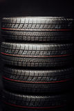 Studless winter tires stack Stock Image