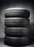 Studless winter tires stack Stock Images