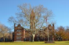 Studni szkoła wyższa w zorzie Nowy Jork na Cayuga jeziorze Fotografia Royalty Free