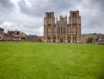 Studnie Katedralny Somerset Południowy Zachodni Anglia UK Zdjęcie Stock