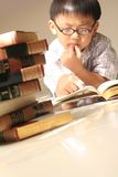 Study. Asian kid doing home study