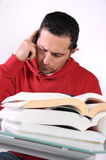 Study 5. A student studying for an exam Royalty Free Stock Photos