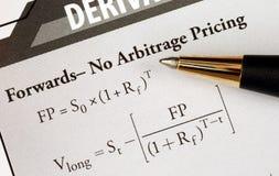 Study an advanced level financial formula. Study an advanced level financial mathematical formula royalty free stock image