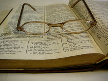 Study Bible Eye Glasses on Top Royalty Free Stock Photo