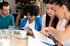 Study in cafe Stock Images