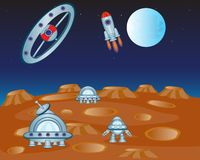 Study of the distant planet Royalty Free Stock Photography