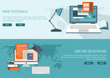 Study and education background banners vector illustration