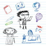 Study and education, doodle set Royalty Free Stock Images