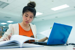 Study education, woman worked Royalty Free Stock Photos