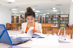 Study education, woman worked Stock Images