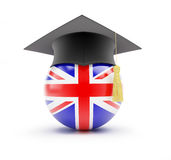 Study in England, learning English. On a white background Royalty Free Stock Photos