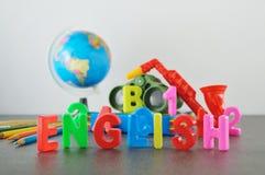 Study English conceptual image Stock Photos