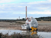 Study of environmental pollution Stock Image