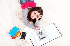 Study on floor Royalty Free Stock Photos