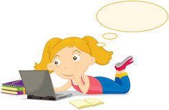 Study girl Stock Image