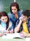 Study group in classroom Stock Photography