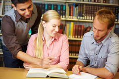 Study group in college Stock Photos